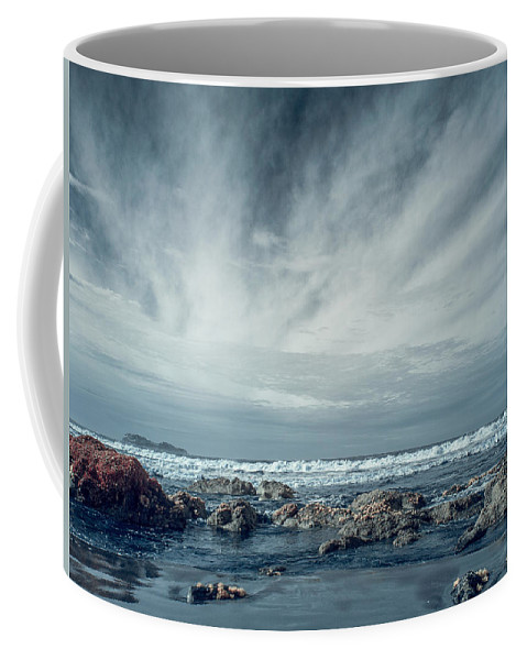 Infrared Coffee Mug featuring the photograph Trinidad State Beach In Infrared by Greg Nyquist