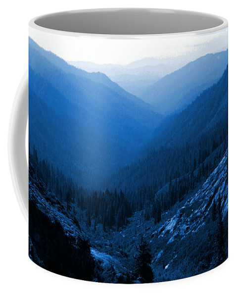 Mountains Coffee Mug featuring the photograph Trinity #2 Enhanced In Blue by Ben Upham III