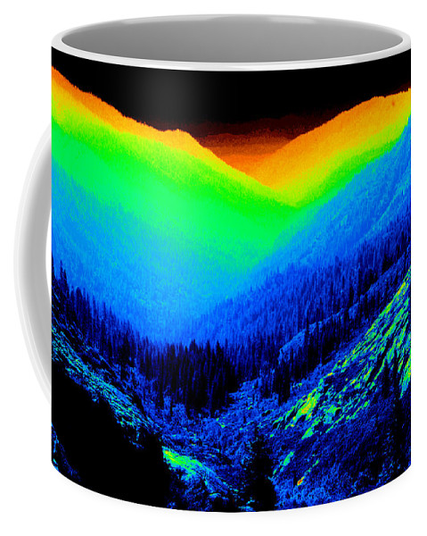 Mountains Coffee Mug featuring the photograph Trinity #2 Enhanced In Cosmicolors by Ben Upham III