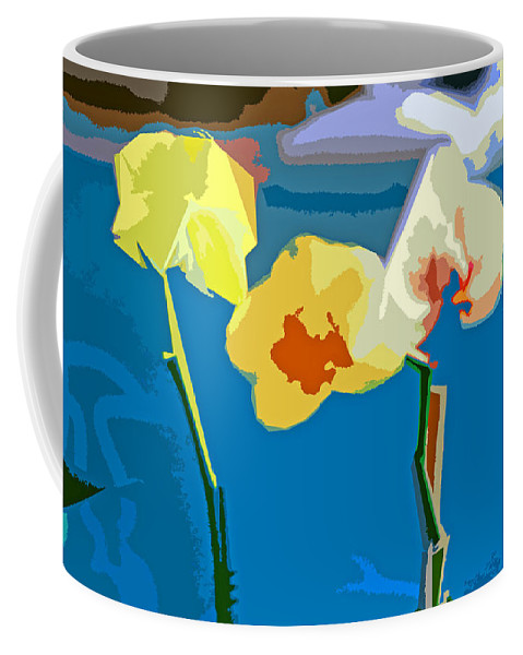Orchid Coffee Mug featuring the digital art Trinity by Joseph Coulombe