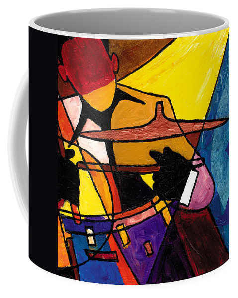 Jazz Art Coffee Mug featuring the painting Trip Trio 3 Of 3 by Everett Spruill