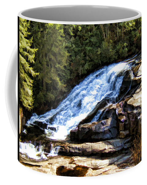Triple Falls Coffee Mug featuring the painting Triple Falls II by Steven Richardson