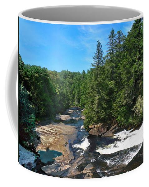 Triple Falls North Carolina Coffee Mug featuring the photograph Triple Falls North Carolina by Steve Karol