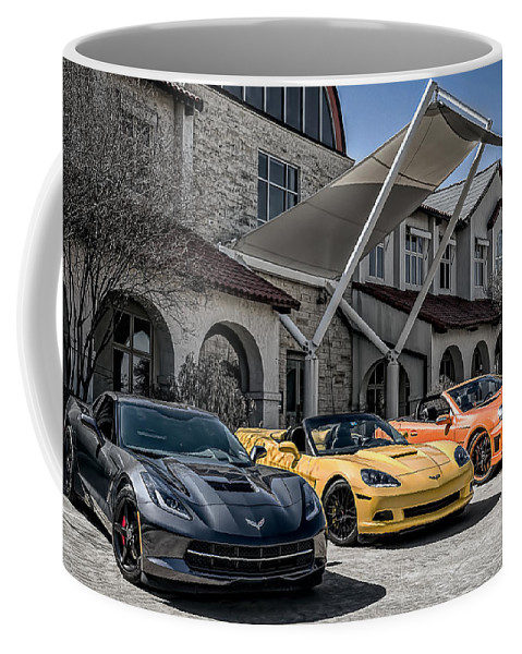 Chevrolet Coffee Mug featuring the digital art Triple Threat by Douglas Pittman