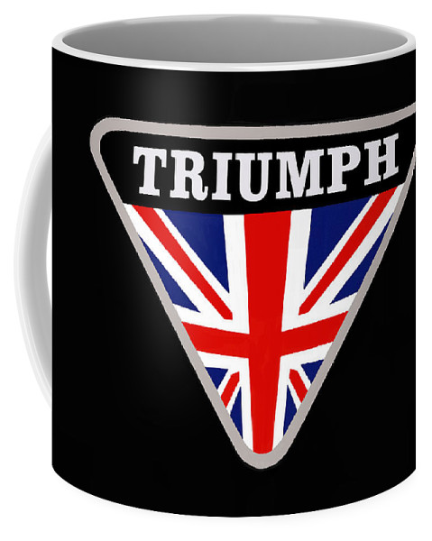 Triumph Coffee Mug featuring the photograph Triumph Emblem by Nick Gray