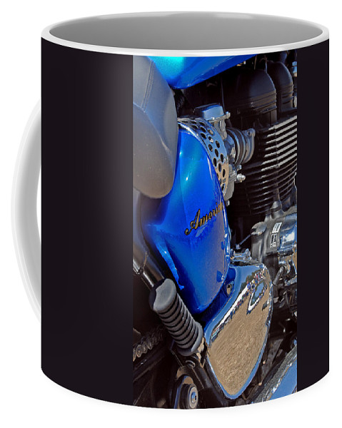Bike Coffee Mug featuring the photograph Triumph by Skip Willits