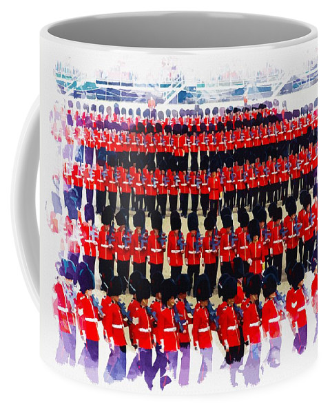 London Coffee Mug featuring the digital art Trooping The Colour by Don Kuing