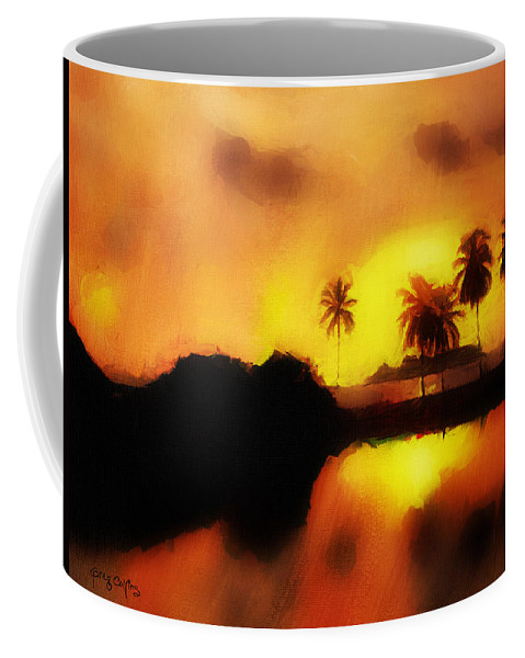 Tropic Coffee Mug featuring the painting Tropical Delight by Greg Collins