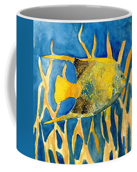Tropical Coffee Mug featuring the painting Tropical Fish Art Print by Derek Mccrea