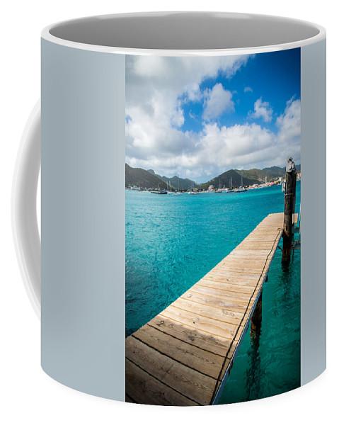 St. Maarten Coffee Mug featuring the photograph Tropical Harbor by Kristopher Schoenleber
