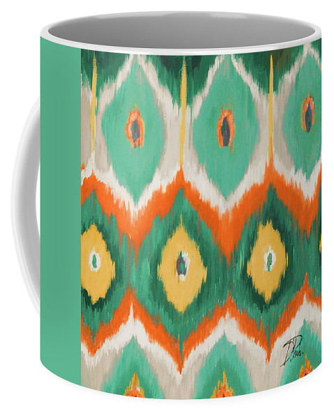 Tropical Coffee Mug featuring the painting Tropical Ikat II by Patricia Pinto