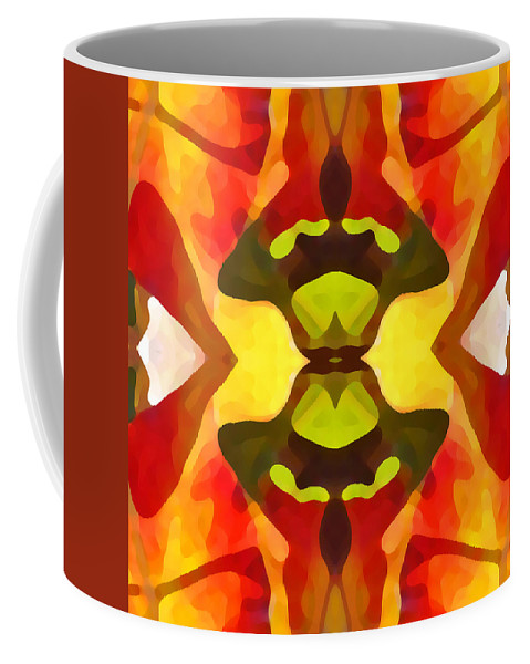 Abstract Coffee Mug featuring the painting Tropical Leaf Pattern 1 by Amy Vangsgard