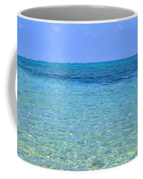 Azure Coffee Mug featuring the photograph Tropical Seascape by Kennerth and Birgitta Kullman