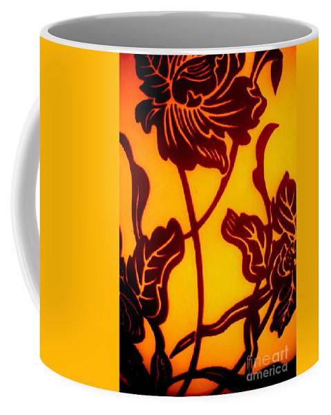 Warm Coffee Mug featuring the photograph Tropical Silhouette by Tim Townsend