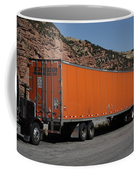 Alpine Coffee Mug featuring the photograph Truck Stop by Frank Romeo