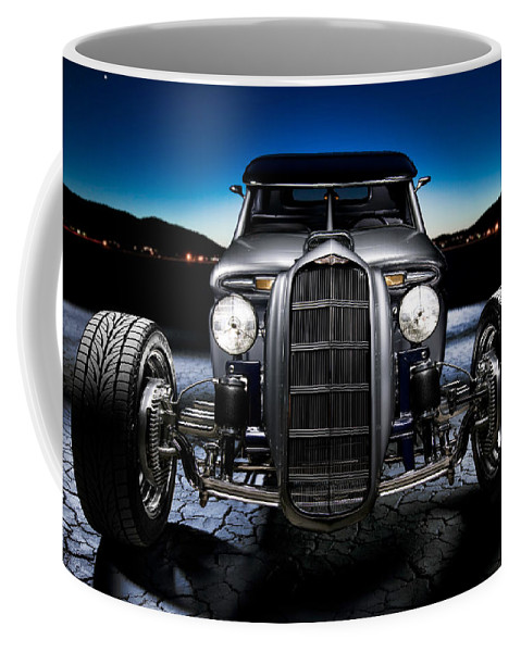 Car Coffee Mug featuring the photograph Millers Chop Shop 1964 Truckster Frontend by Yo Pedro