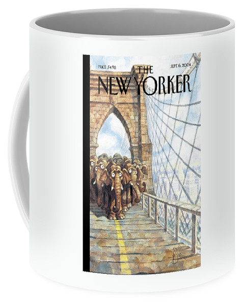 Pde Peter De Seve Coffee Mug featuring the painting Trunk Show by Peter de Seve