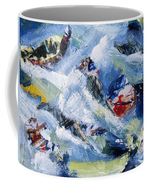 Abstract Coffee Mug featuring the painting Tsunami 3 by Dominic Piperata