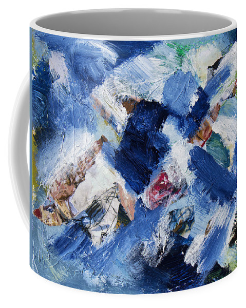 Abstract Coffee Mug featuring the painting Tsunami 4 by Dominic Piperata