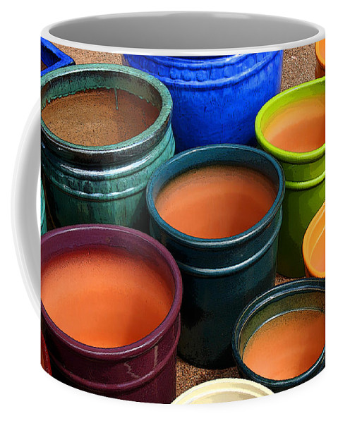 Tubac Coffee Mug featuring the photograph Tubac Pottery 2 by Joe Kozlowski