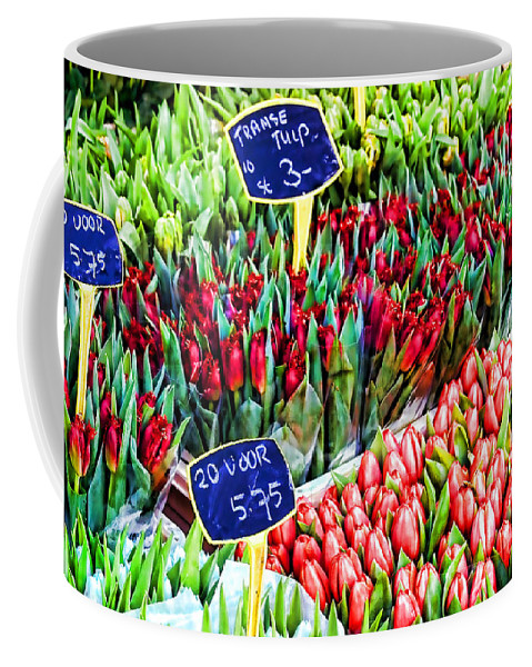 Tulips Coffee Mug featuring the photograph Tulips Tulips Tulips By Diana Sainz by Diana Raquel Sainz