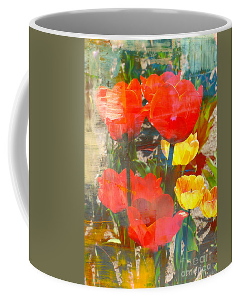 Tulip Abstract Coffee Mug featuring the photograph Tulip Abstracts by Carol Groenen