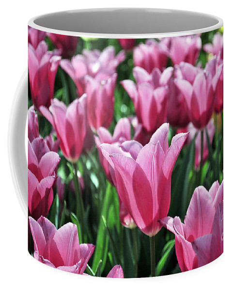 Spring Coffee Mug featuring the photograph Tulip Heaven by Terri Winkler