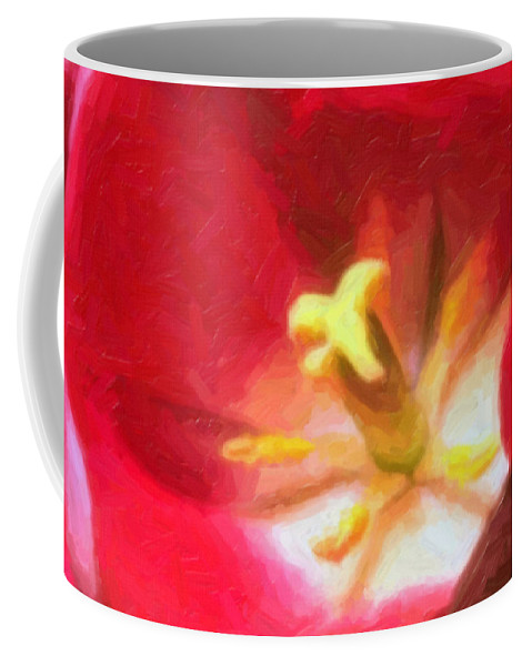 Flower Coffee Mug featuring the painting Tulip by Sergey Bezhinets