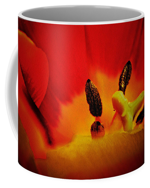 Tulip Coffee Mug featuring the digital art Tulip Sexuality by Georgianne Giese