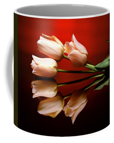 Flower Coffee Mug featuring the photograph Tulip Trio by Photophilous