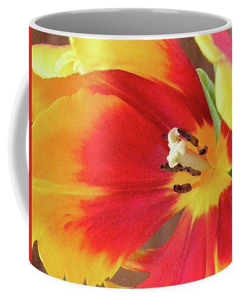 Tulip Coffee Mug featuring the photograph Tulip Warm Tones by Sandi OReilly