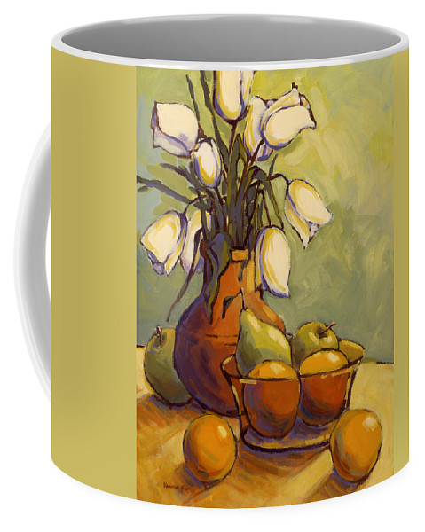 Tulips Coffee Mug featuring the painting Tulips 1 by Konnie Kim