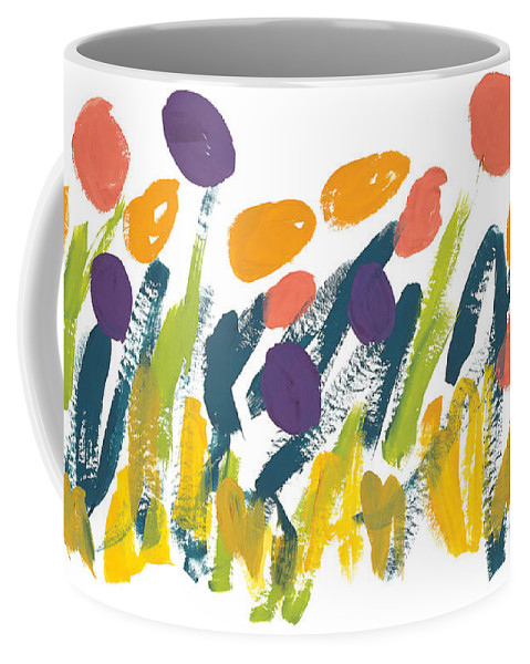 Contemporary Coffee Mug featuring the painting Tulips by Bjorn Sjogren