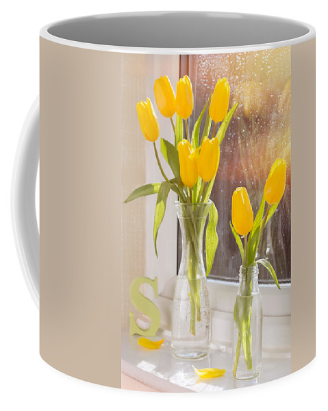 Tulips Coffee Mug featuring the photograph Tulips by Amanda Elwell