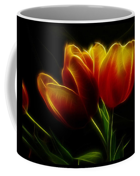 Flower Coffee Mug featuring the photograph Tulips Of Light by Shannon Story