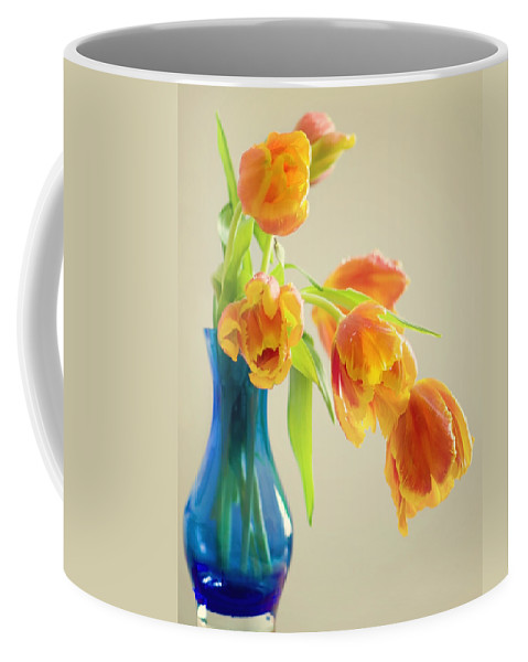 Tulpe Coffee Mug featuring the pyrography Tulips by Steffen Gierok