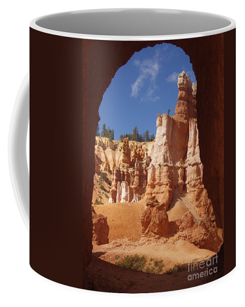 Bryce Canyon Coffee Mug featuring the photograph Tunnel In Bryce by Tonya Hance