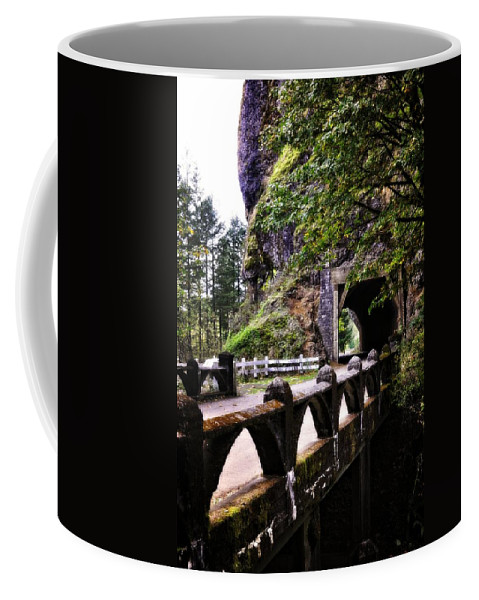 Multnomah Scenic Route Coffee Mug featuring the photograph Tunnel In The Mountain by Image Takers Photography LLC - Laura Morgan