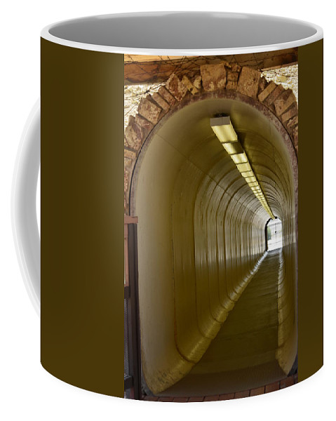 Butte Coffee Mug featuring the photograph Tunnel To The Berkeley Pit by Image Takers Photography LLC - Carol Haddon
