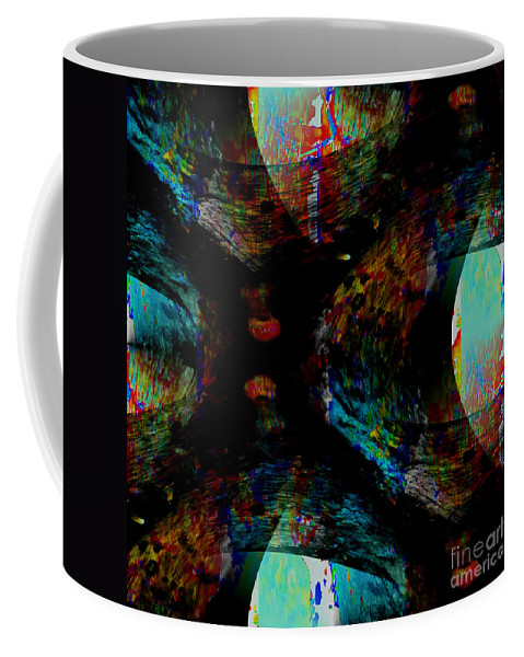 Turbulence Coffee Mug featuring the digital art Turbulence by Barbara Moignard