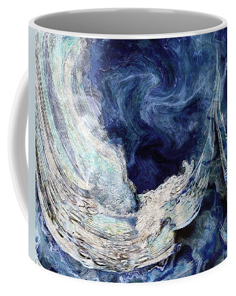 Waves Coffee Mug featuring the painting Turbulent Sea by RC DeWinter