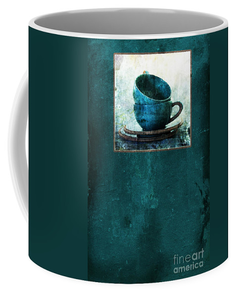Cups Coffee Mug featuring the photograph Turquoise Cups by Randi Grace Nilsberg
