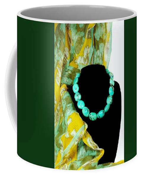 Turquoise Necklace Coffee Mug featuring the photograph Turquoise Fashion by Diana Angstadt