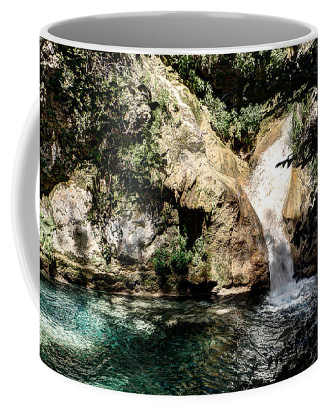 Forest Pond Coffee Mug featuring the photograph Turquoise Forest Pond On A Summer Day No2 by Weston Westmoreland