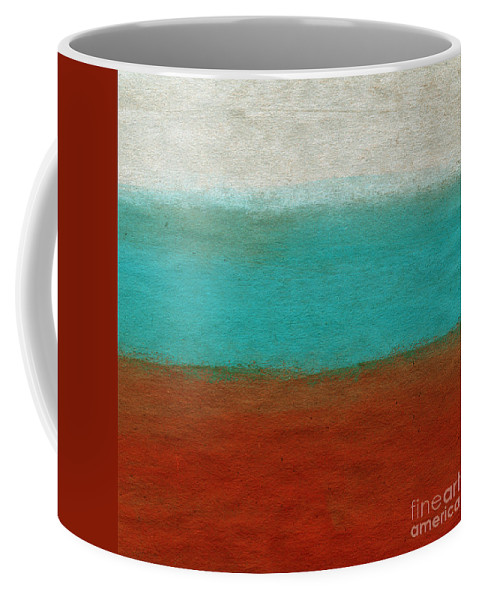 Abstract Landscape Coffee Mug featuring the painting Tuscan by Linda Woods