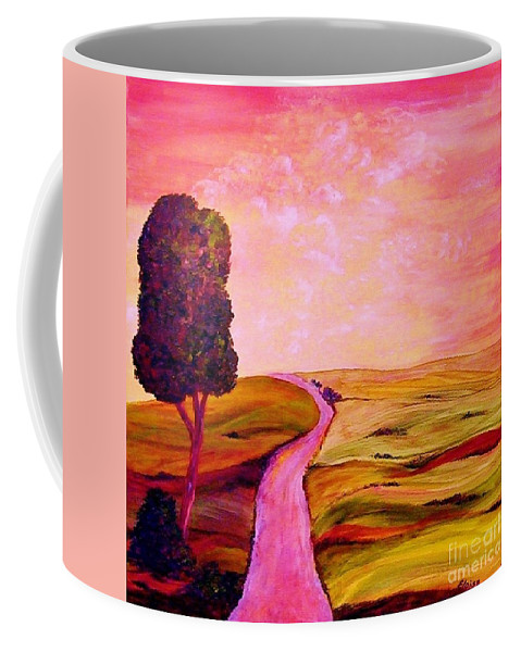 Tuscany Coffee Mug featuring the painting Tuscan Skies ... An Impressionist View by Eloise Schneider