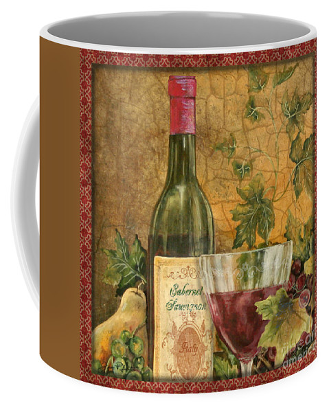 Original Coffee Mug featuring the painting Tuscan Wine-b by Jean Plout