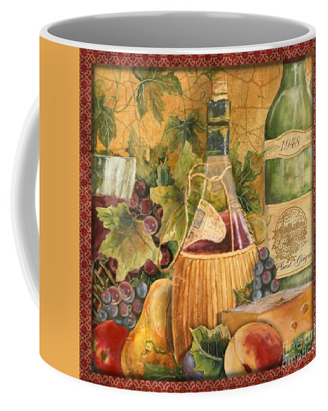 Original Coffee Mug featuring the painting Tuscan Wine-c by Jean Plout