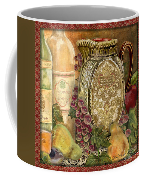 Original Coffee Mug featuring the painting Tuscan Wine-d by Jean Plout
