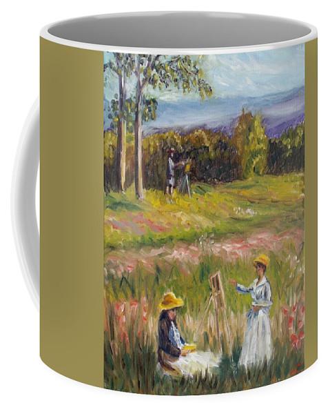 Landscape Coffee Mug featuring the painting Tuscany Dream2 by Elena Sokolova